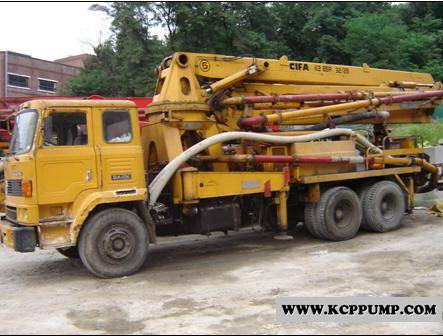 Concrete pump mixer trailer