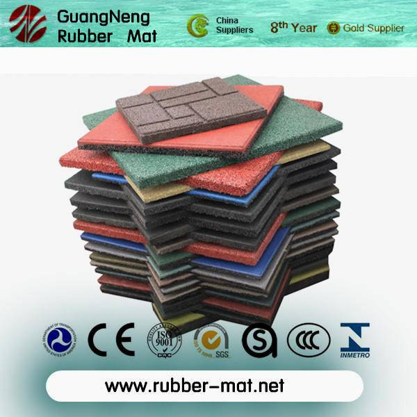 Anti-abrasion outdoor Sideway rubber tiles/block rubber stones