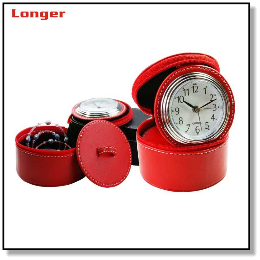 Promotion desk clock with jewelry box