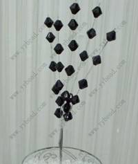 Black bicone wedding decor beaded flower-HZW001
