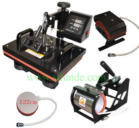 Digital Slide Combo Heat Press Machine 4in1