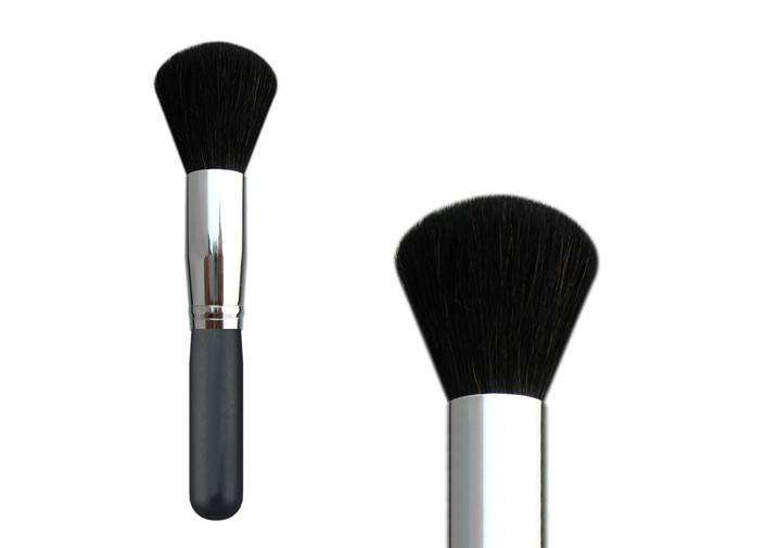 Bronzer Brush For Makeup Brush With Normal Goat Hair Wooden Handle Metal Ferrule