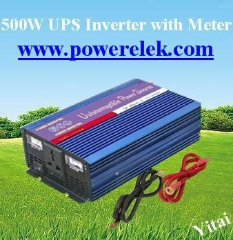 500W inverter with charger and automatic switch and meter