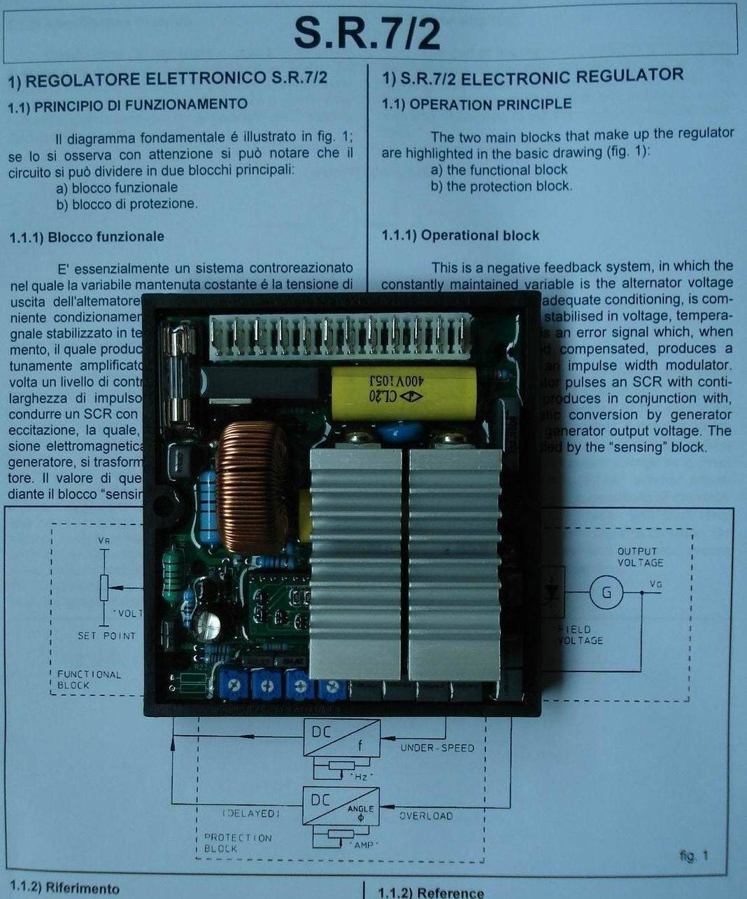Selling MeccAlte Voltage Regulator SR7-2G