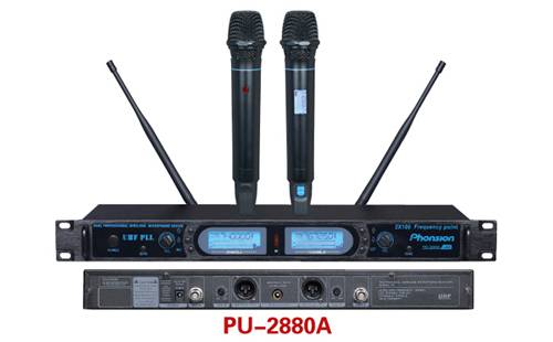 PU-2880A double channel wireless microphone