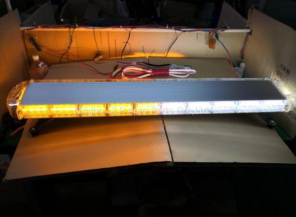 88 LED 48 inch Amber White Traffic Warn Truck Strobe Tow Light Bar Roof Advisor