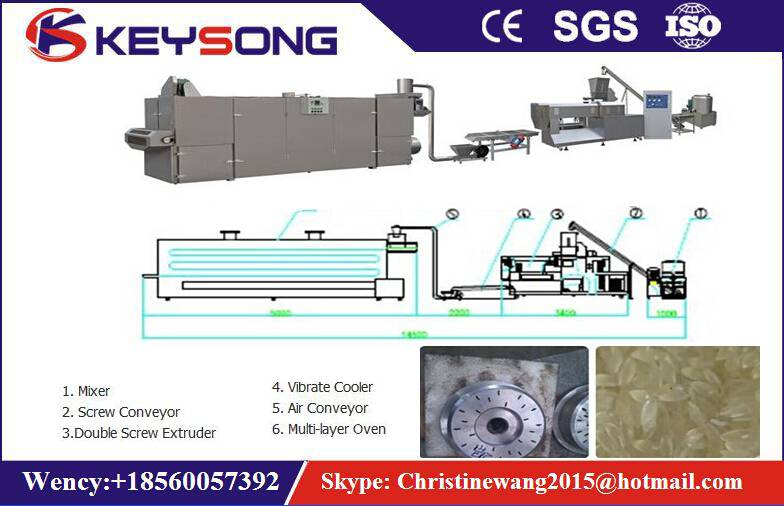 Artificial Rice / Reconstituted Rice Making Machine