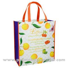 laminated Nonwoven Grocery Bag 12W x15H X5D