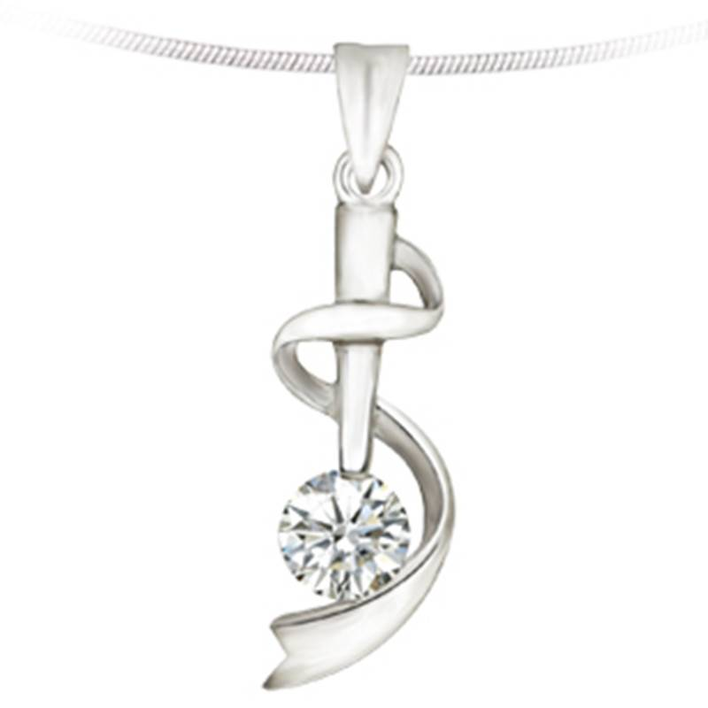 Fashion Stainless Steel Pendant Jewelry with Crystal (PZ8664)