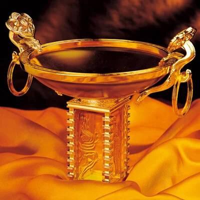 art glass liu li feng shui home crystal decorations business gift treasure bowl