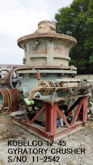 "USED KOBELCO 12-45 (45"" X 12"") DH GYRATORY CRUSHER S/NO. 11-2542"