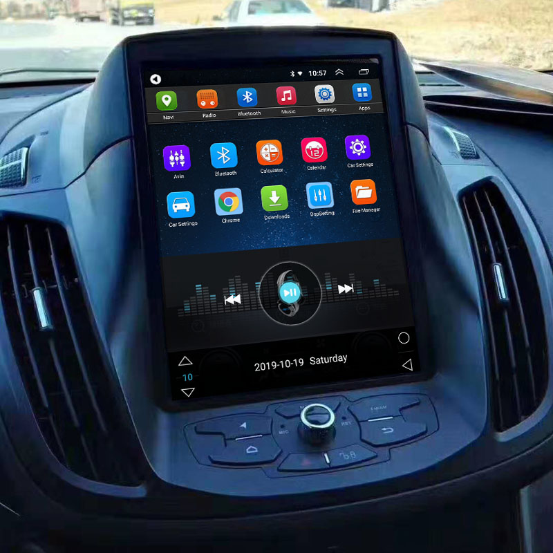 Tesla Style 10.4 Inch Android Car Multimedia Navigation For Ford Kuga 2013-2019