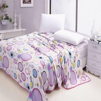 purple bubble coral fleece blanket
