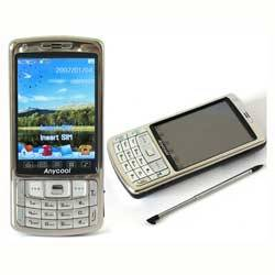 Dual sim cards dual standby /TV/FM/Dual Bluetooth/2.0MP dual camera/2.6touch screen/(anycool mobile