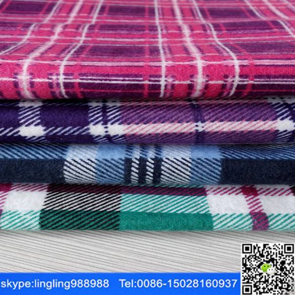 100% cotton flannel fabric factory