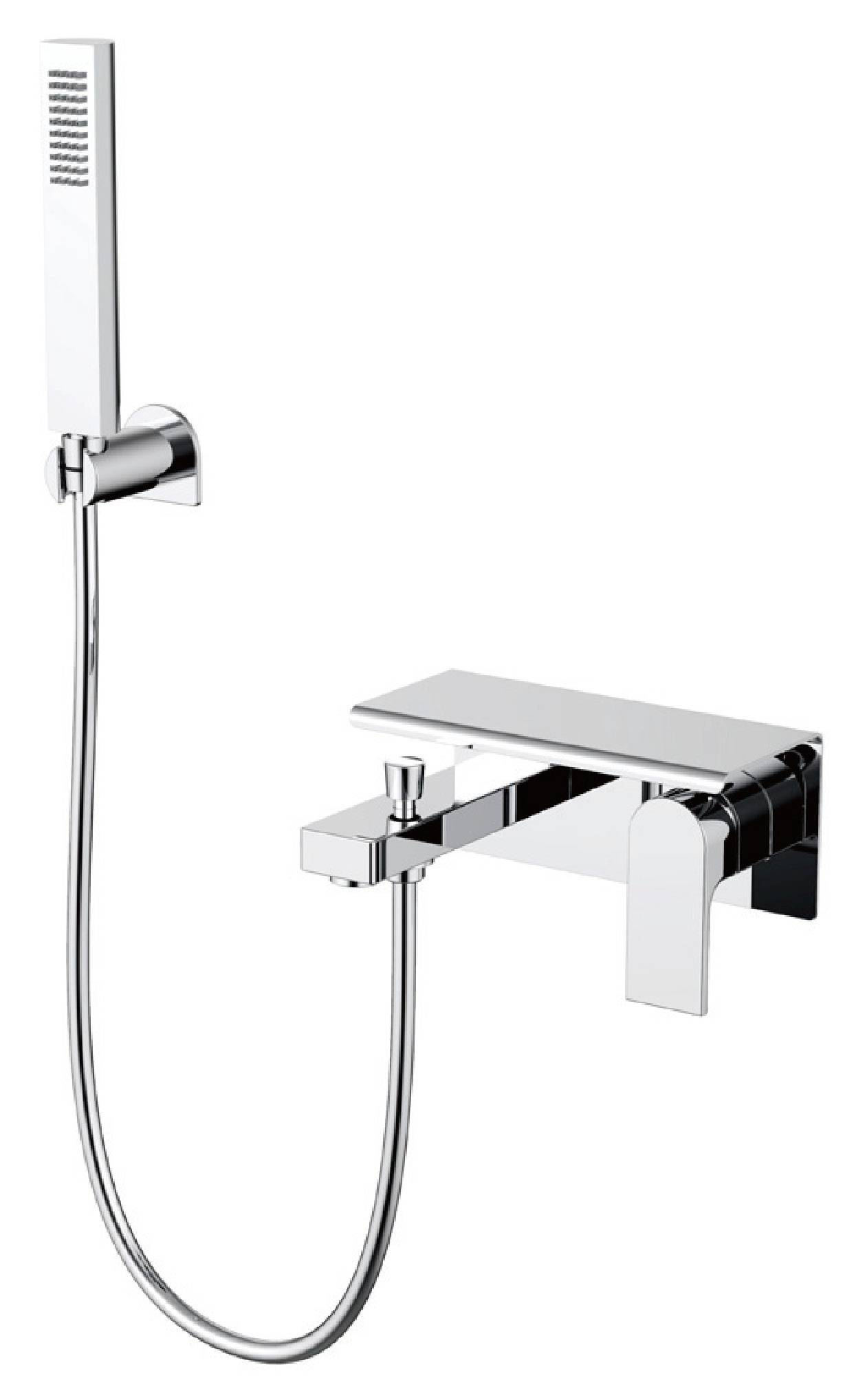 New design chrome brass in-wall bathroom concealed shower faucet