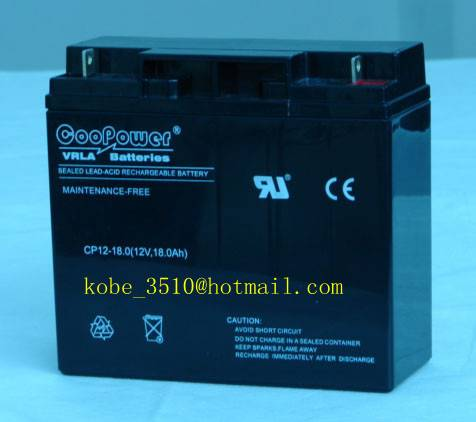 Sealed Lead acid VRLA 12V18ah battery for UPS