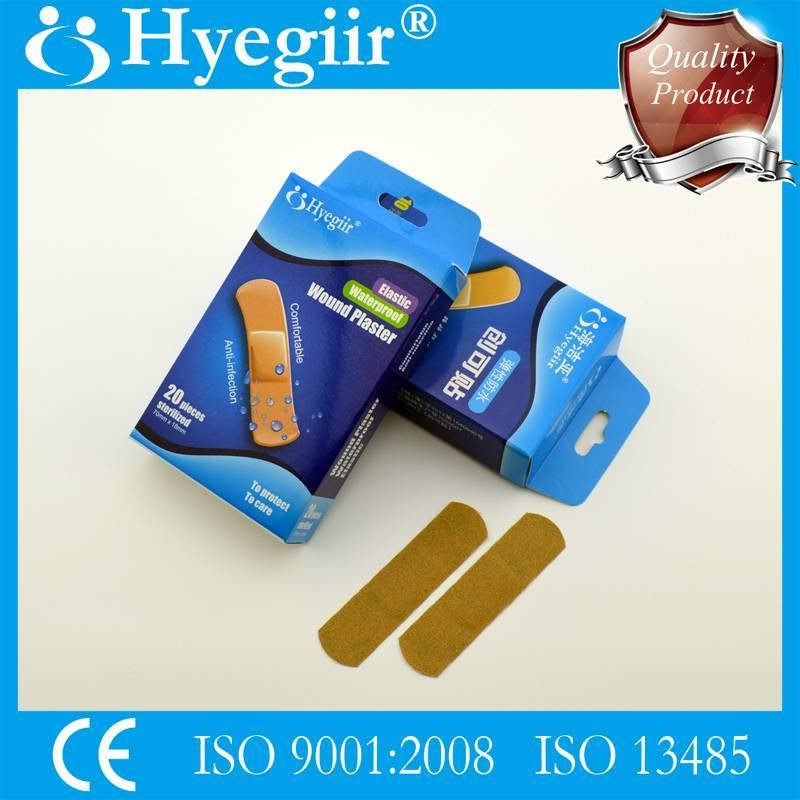 Boxed elastic waterproof wound plaster& adhesive bandage