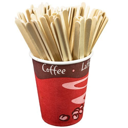 New fashion big capacity healthy natural wooden coffee stirrer with box