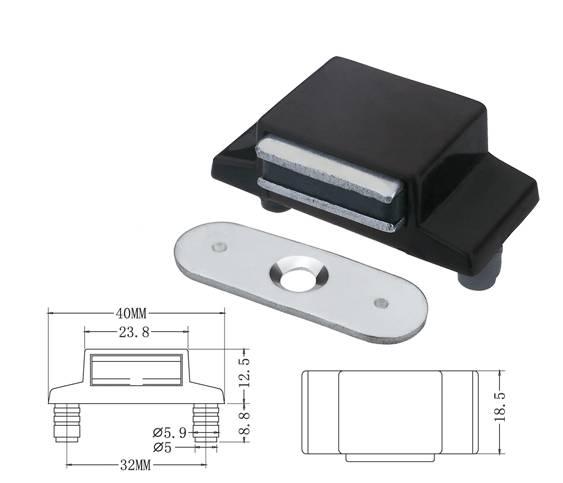 7025 stainless steel glass door magnetic catcher