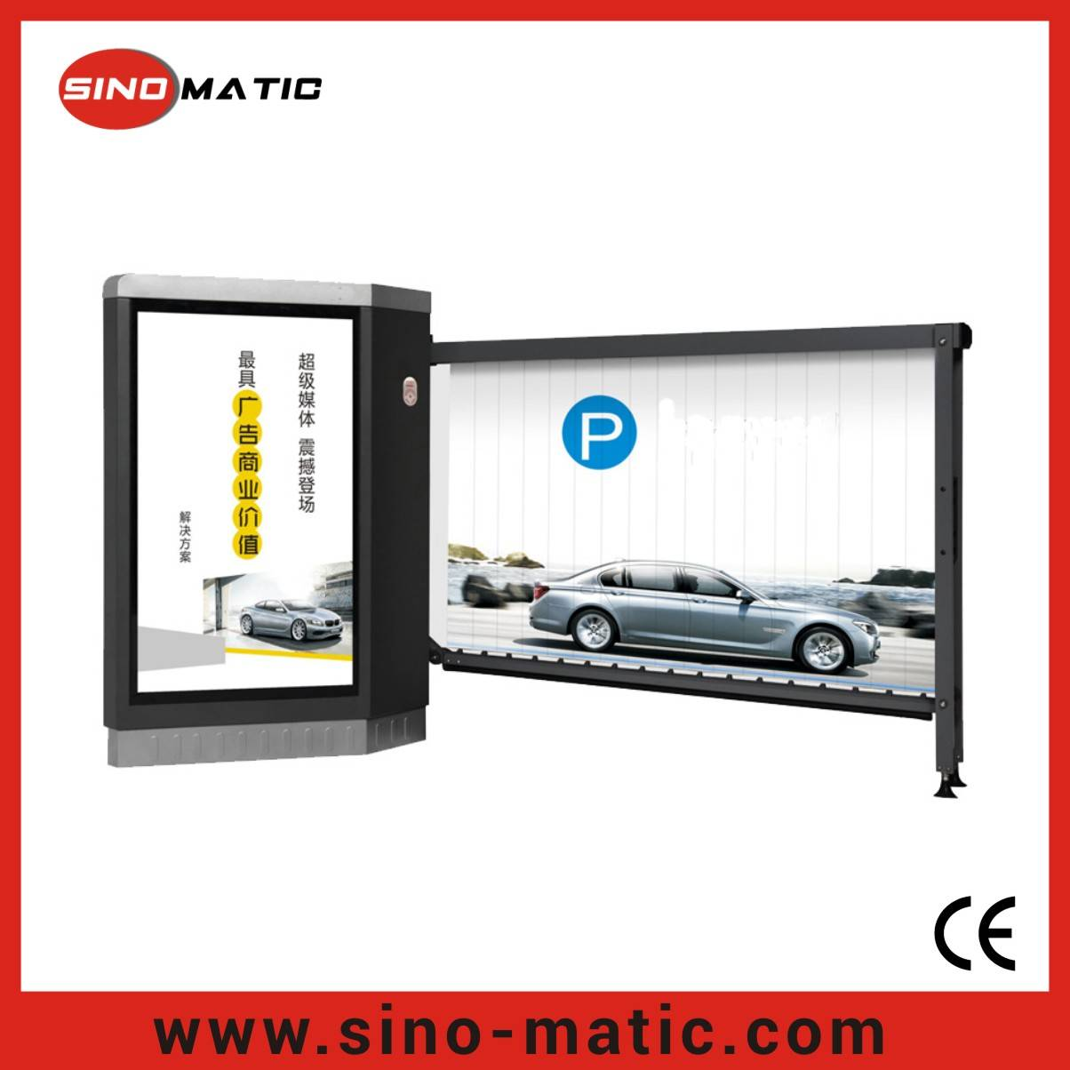 LED Light Advertising Traffic Barrier