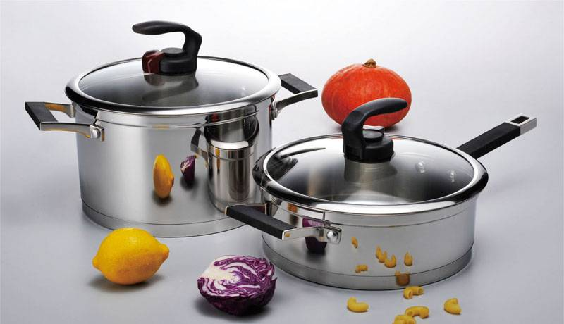 Stainless steel cookware set 4pcs