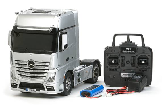 Tamiya 1/14 scale Mercedes-Benz Actros 1851 GigaSpace Truck Full Operation Kit