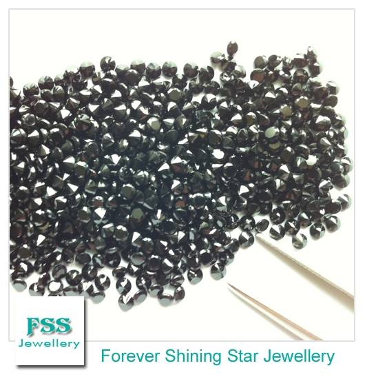 Black Spinel AAA Round Melee Calibrated Gemstones 1.5mm1.5mm