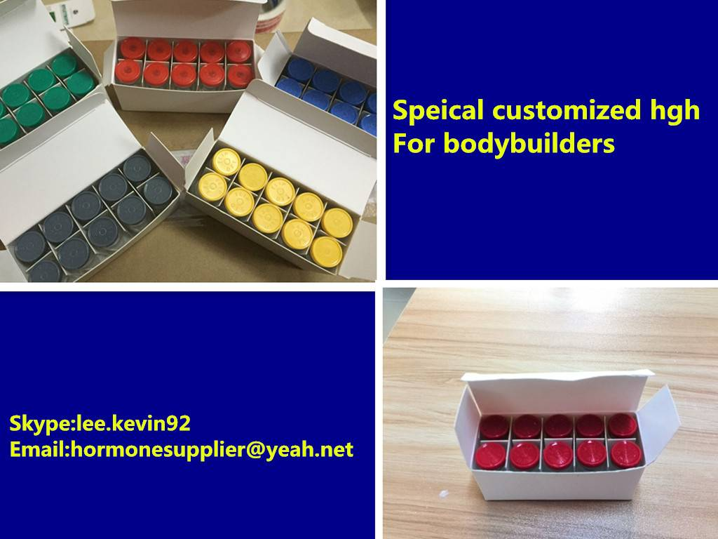 Generic hgh:Blue/yellow/Red tops hgh (10iu/vial 100iu/kit) for bodybuilder build muscles