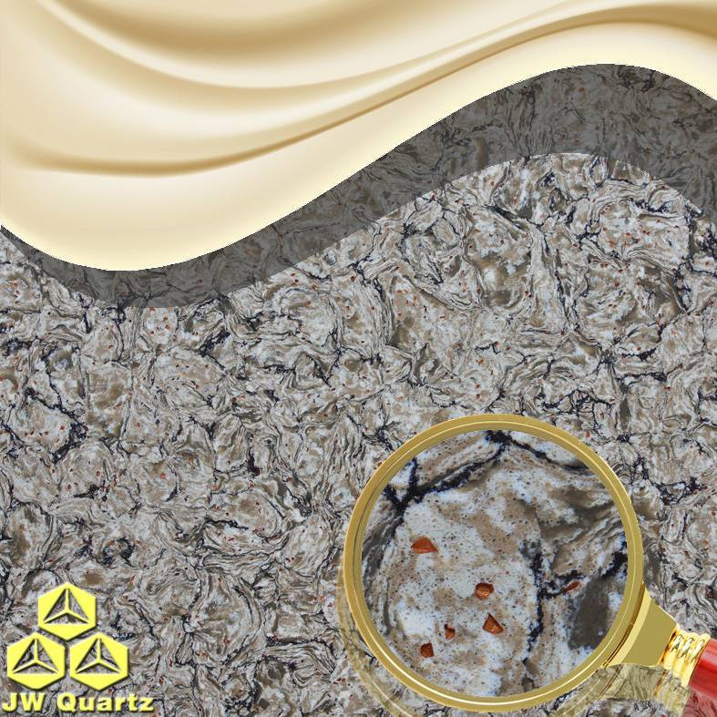 JW-6815 Venice-Stain Resistant Quartz Stone Slab for Countertop