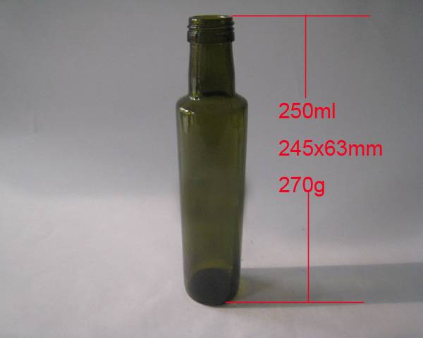Cruet bottles, jam bottles glass bottles, olive oil bottles