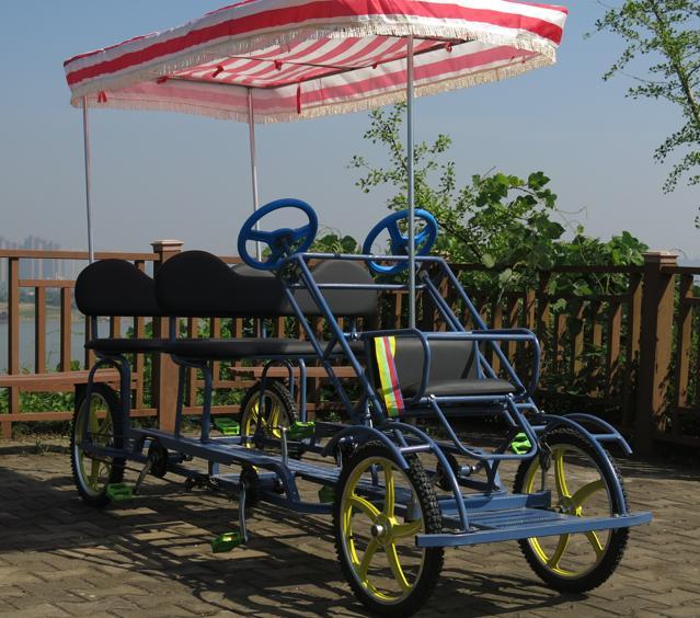 Leisure 4 Wheels Tandem Bike in Park/4 Wheel Bike Wholesale (TE-SA02)