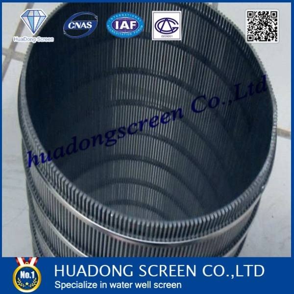 (Manufacture)wedge wire screen/continuous slot screen for dewatering
