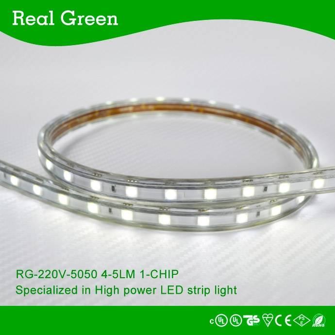 220V SMD5050 LED strip light White