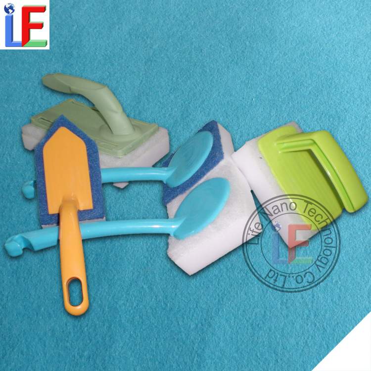 Shiny Clean The Dingy And Grimy Melamine Sponge with Handle
