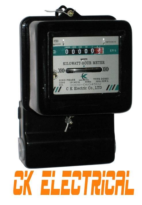 single phase kwh energy meter DD862