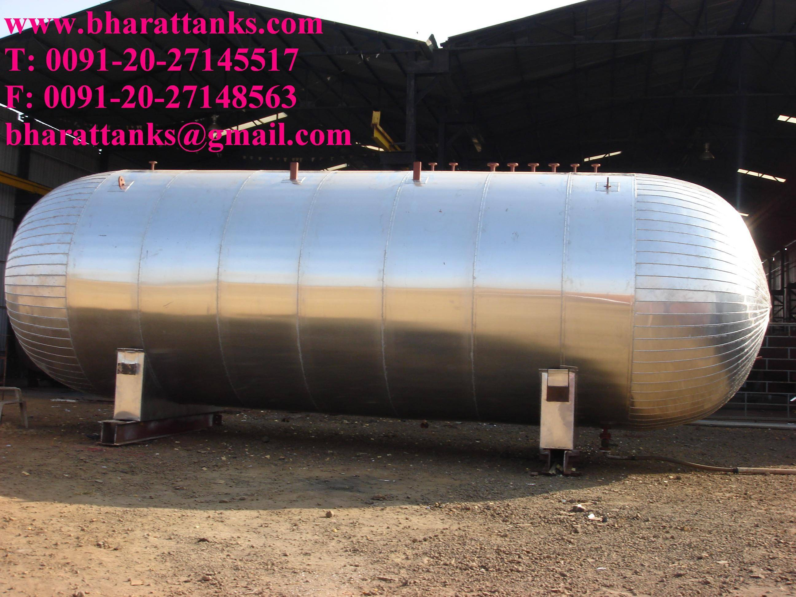 ethylene gas storage tanks
