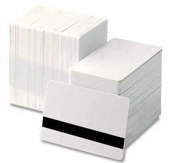 White Magnetic Stripe Card