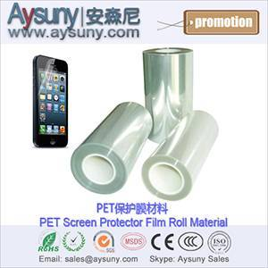 High transmittance PET film roll material screen protector