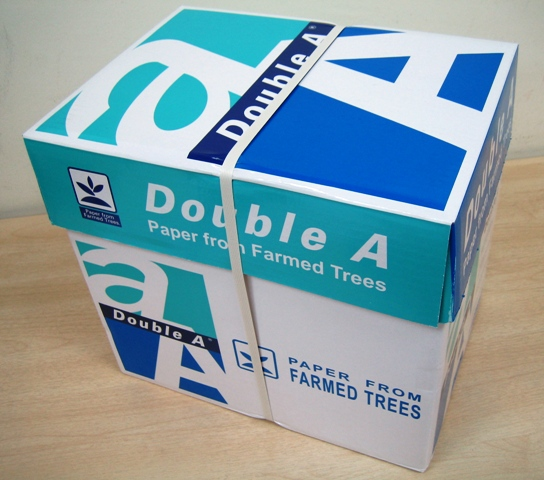 Double A A copy papers 80,90gsm