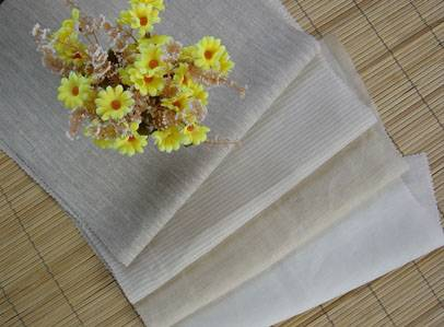 pure ramie semi bleached fabric 60S60S/8068 55