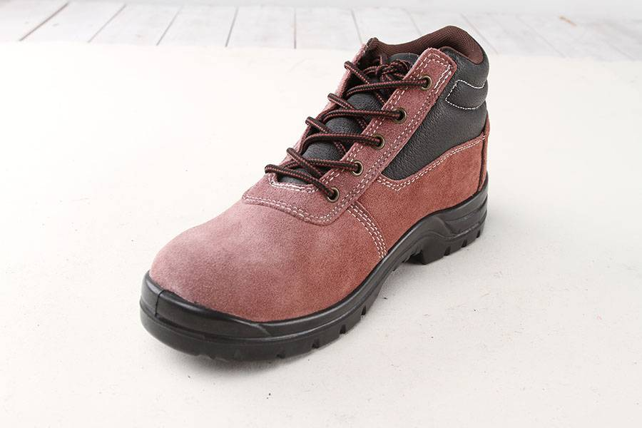 PU sole safety shoes/suede leather safety shoes