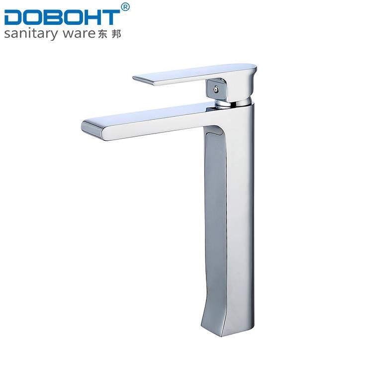 new design sanitaryware brass single handle chrome bathroom basin faucet mixer