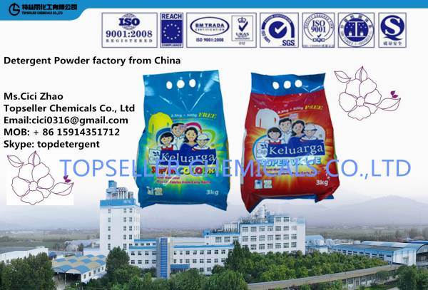Southeast Asia Malaysia 3kg detergent powder factory Diao quality soap powder liquid detergent