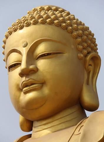 Buddha head decoration stone
