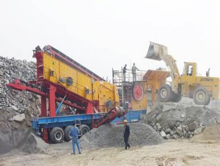 Mobile Jaw Crusher Crushing Plant