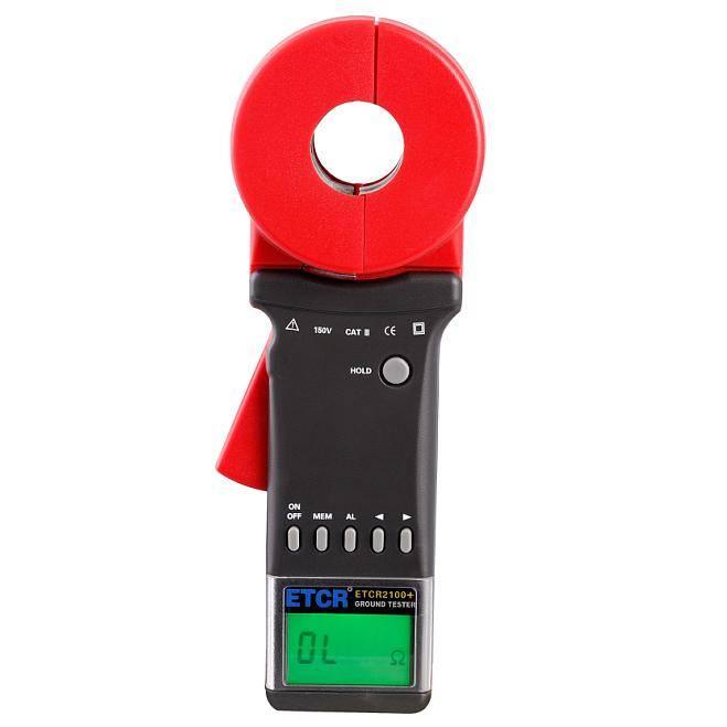 ETCR2100+ Clamp-On Digital Ground Resistance Tester