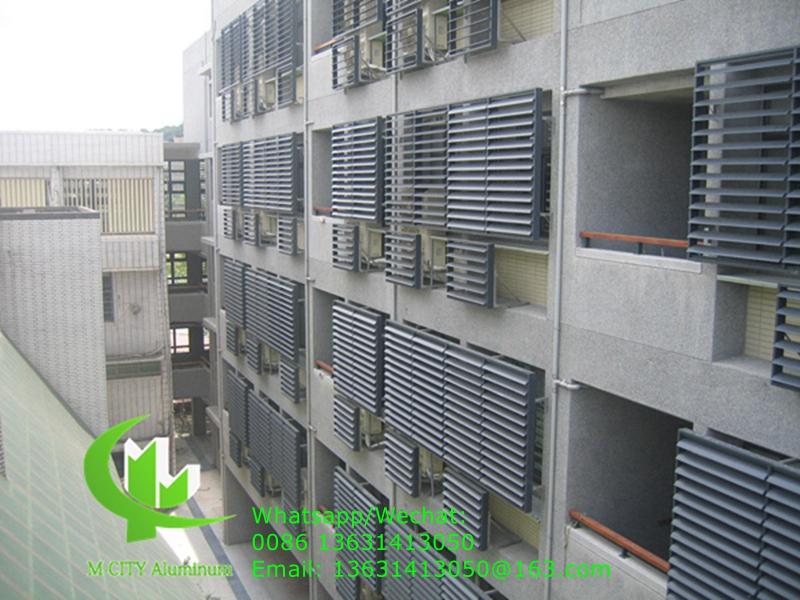 Aerofoil fins aluminum window louver shutter for outdoor fixed louver window