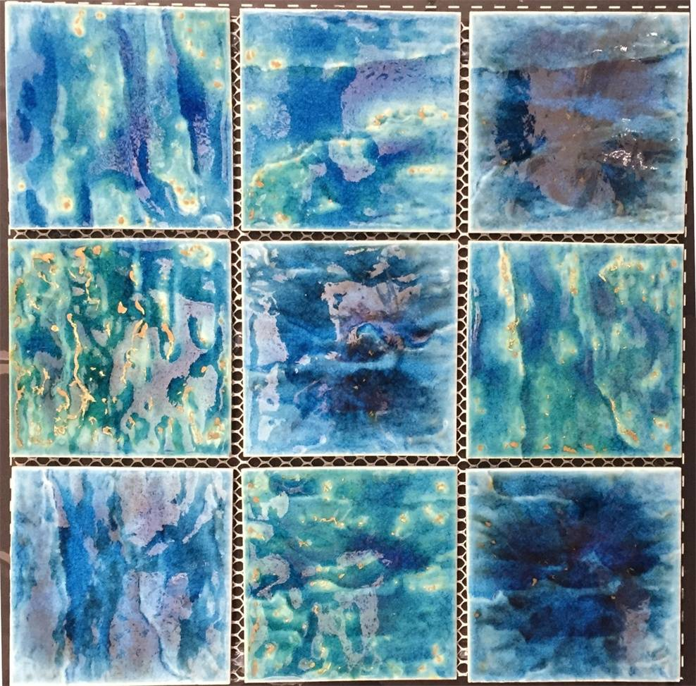95x95mm Mixed Crystallized glazed pool tiles