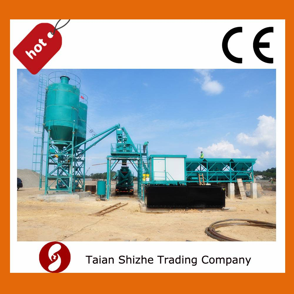 HZS 35 cubic meters per hour concrete batching plant from china